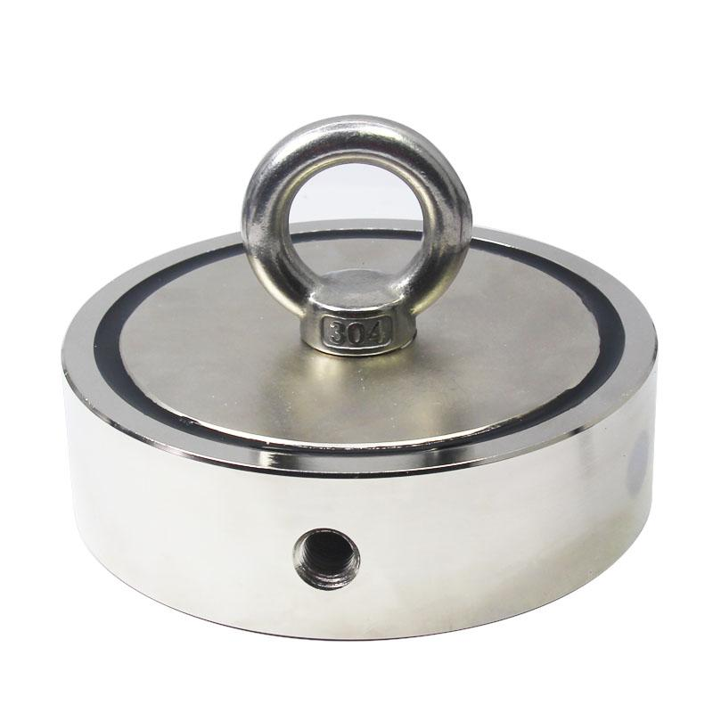 3600 LBS Double Sided Round Treasure Salvage Neodymium Magnet