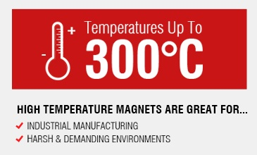 High Temperature Resistance Magnets operate up to 300 degrees celsius