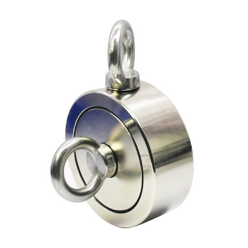 Strong Tool Fishing Pot Magnet With Two Eyelets