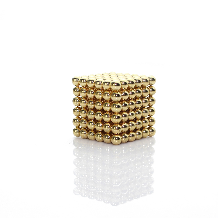 216x3mm Gold Buckyballs Neocube Toys