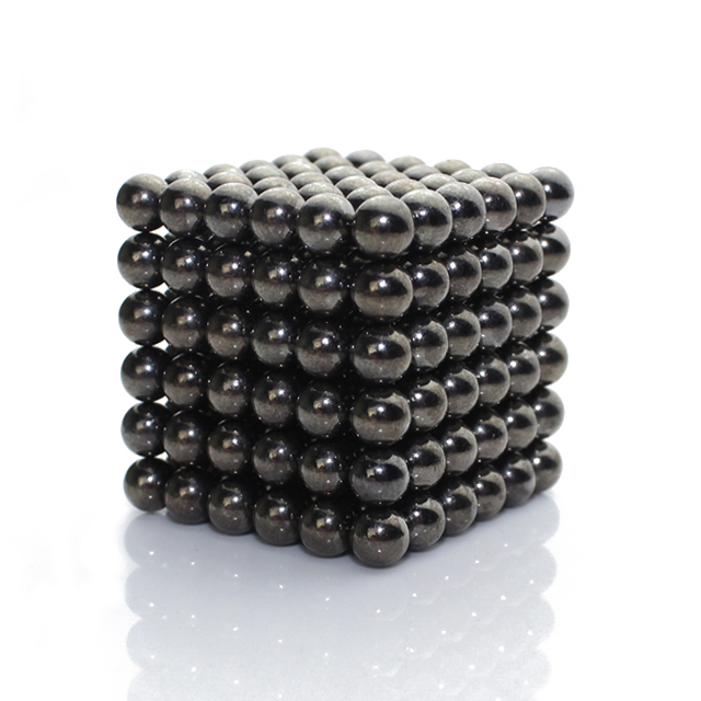 216pcs 5mm Black Bucky Balls Magic Beads CyberCube Puzzle Toy
