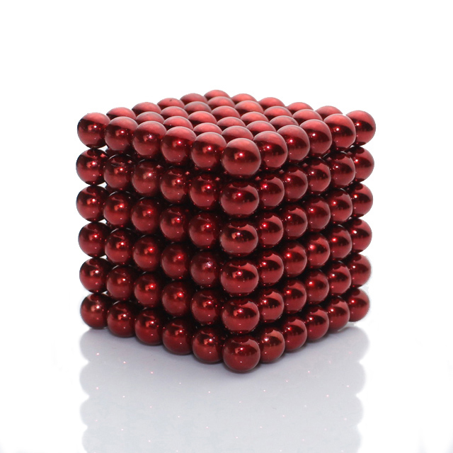 216pcs Dia 5mm Red Magnetic Balls Buckyballs Nanodots