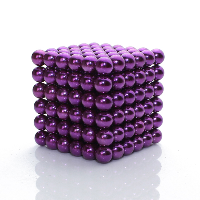 216x5mm Purple Magnetic Spheres & Balls MagCube neoClicks