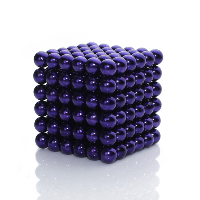Violet Color 5mm 216pcs BuckyBalls Magnetic Desktoy