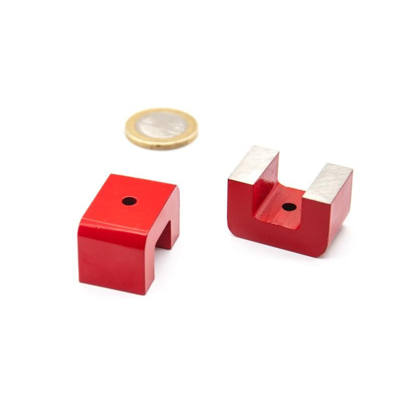 Alnico Pot Magnets with Bridge One Through Hole