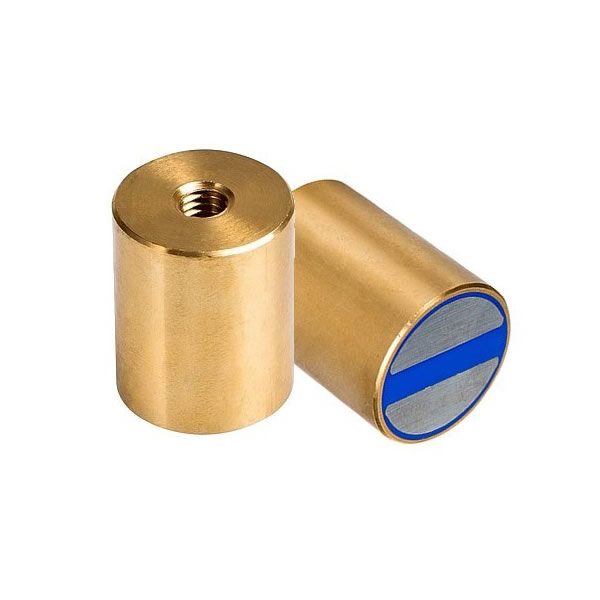 NdFeB Bi-pole Cylindrical Pot Magnets with Tolerance h6 and Internal Thread