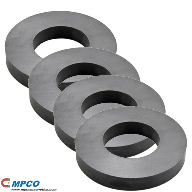 Sintered Hard Ferrite Ring Magnets Y10T Y25 Y30 Y35H
