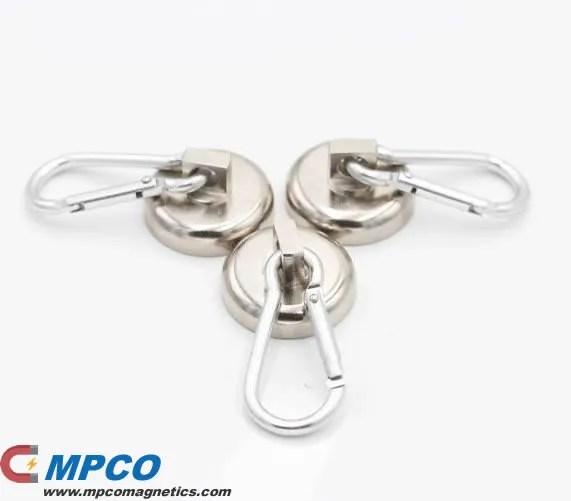 Swiveling Carabiner Magnet Snap Hooks