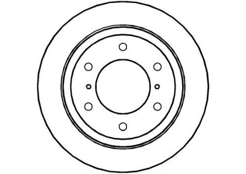 Rear Single Brake Disc fits to Mitsubishi PAJERO IV 3.2