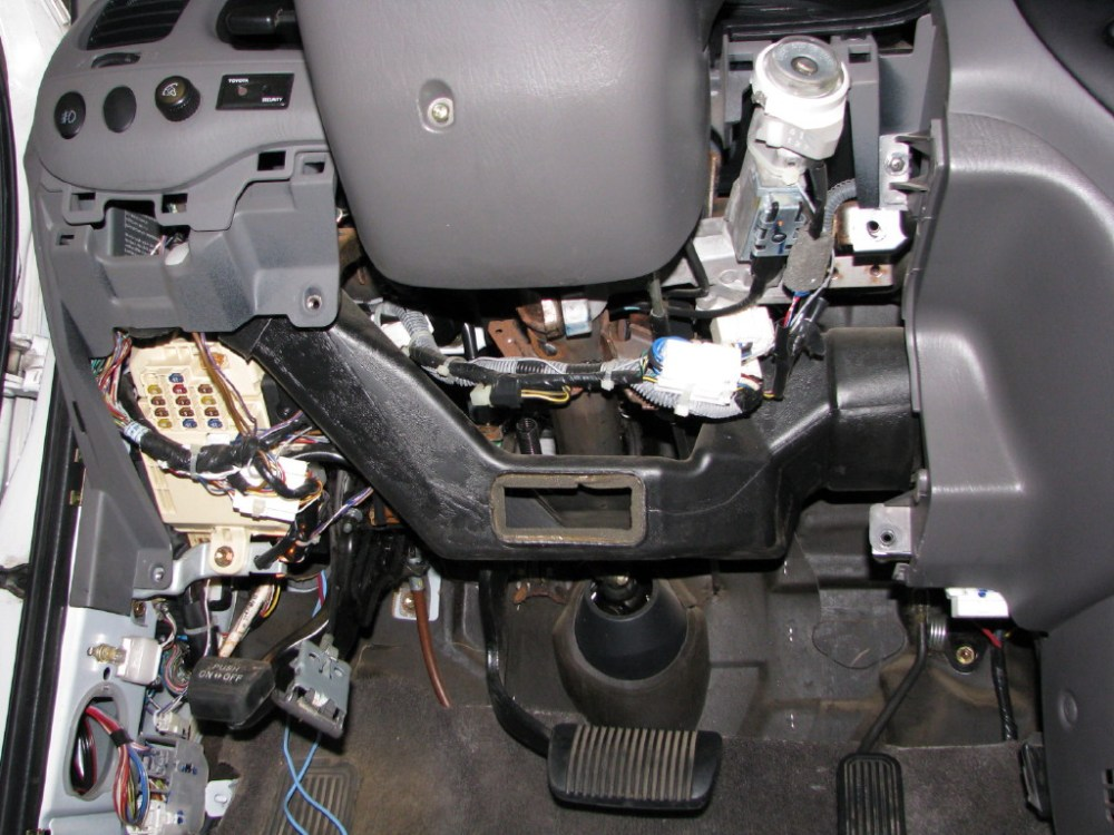 medium resolution of here is a picture of how i mounted the brake controller to the kick plate installing trailer brake system toyota tundra