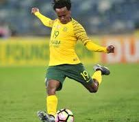South Africa's marksman, Percy Tau