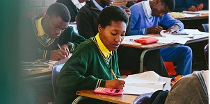 Matric students in Gauteng province