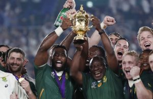 South African president Cyril Ramaphosa joins Springboks' victory celebration in Japan following winning the rugby world cup.