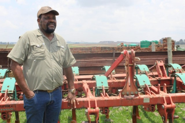 Mpumalanga farmer, Dr Job Mthobeni. Photo by Anna Ntabane, Mpumalanga Guardian