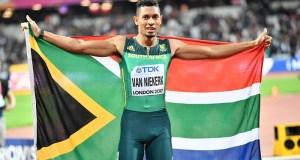 South Africa's Olympic runner and world record holder, Wayde van Niekerk