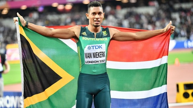 South Africa's Olympic runner and world record holder, Wayde van Niekerk