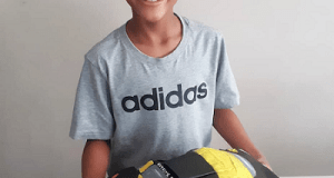 Nine-year old South African athlete, Romario Valentine