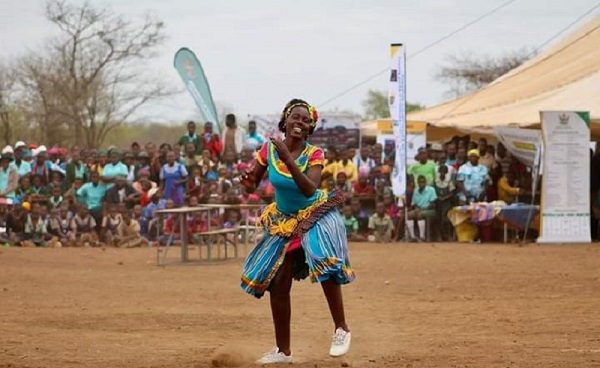 A VaTsonga young lady showcases her skillful dance as she promotes her Shangaan culture in Chiredzi, Masvingo province. Photo, Lowveld Post (Pvt) Ltd