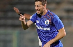 SuperSport United's deadly striker Bradley Grobler