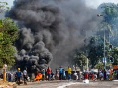 South African protests and looting
