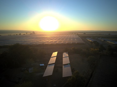 Solar panels at the Brits in North West province