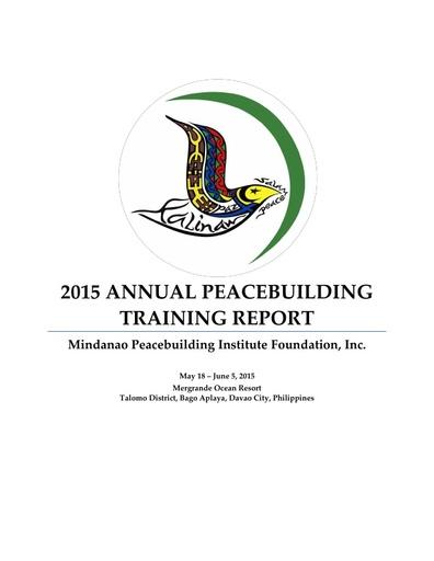 Annual Peacebuilding Training Reports