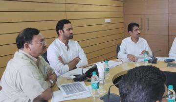 किसान कल्याण तथा कृषि विकास मंत्री श्री सचिन यादव ने मण्डी बोर्ड में निर्माण कार्यों की समीक्षा की।