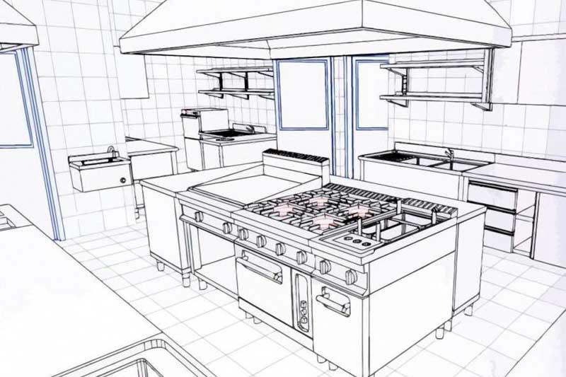 Progettazione di una cucina professionale