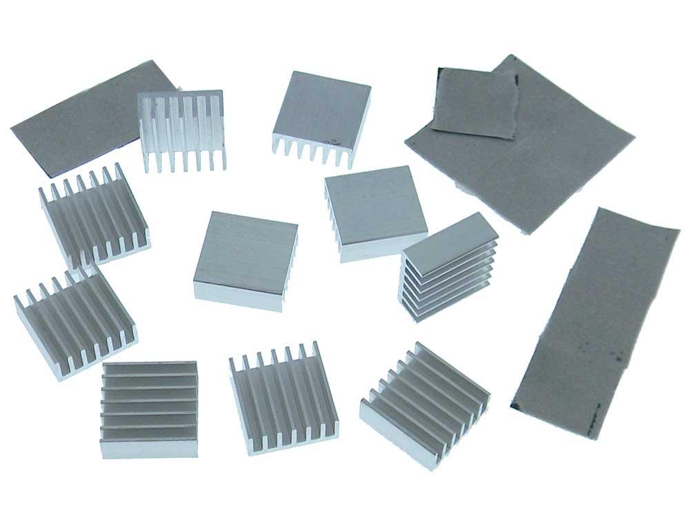 pack of 10 heatsink 14 x 14mm x 6mm adhesive backed