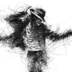 Michael Jackson Σκίτσο Μολύβι