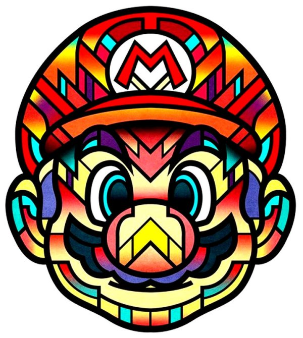 Super Mario Prisma Coloful Print