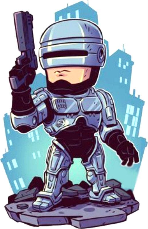 Robocop Σχέδιο Παιδική Εκτύπωση