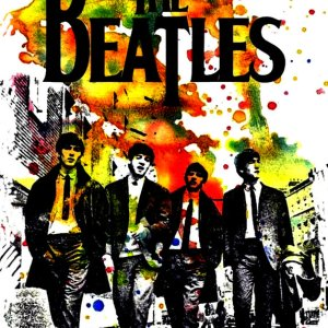The Beatles Splash Art Cover