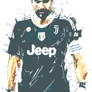 Gianluigi Buffon Juventus Splash Art