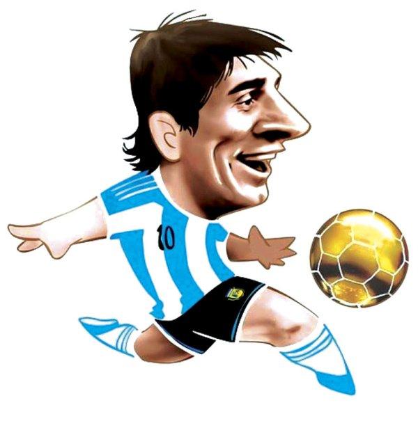 Lionel Messi Αστεία Καρικατούρα