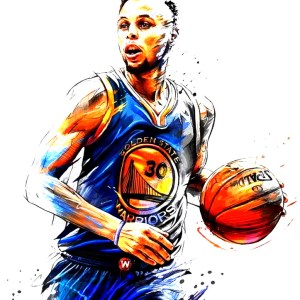 Stephen Curry 30 Art