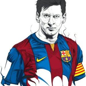 Lionel Messi Pencil Art Print