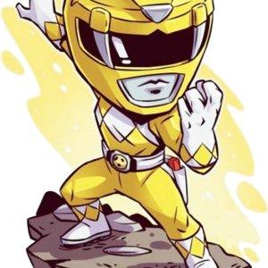 Power Ranger Κίτρινος Print