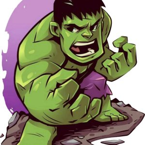 Hulk Παιδικό Σχέδιο Εκτύπωση
