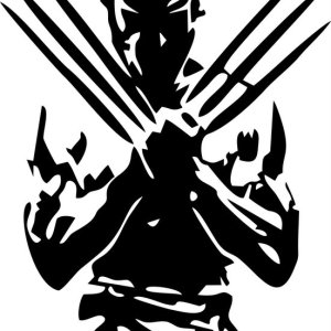 Wolverine Σιλουέτα Μαύρο Εκτύπωση