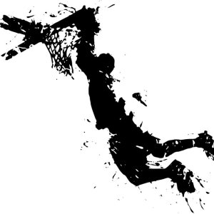 Μπάσκετ Splash Μαύρο Εκτύπωση