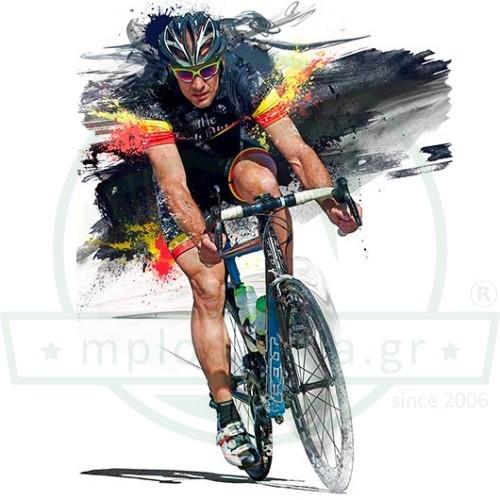 Ποδηλάτης Ψηφιακή Εκτύπωση Μπλουζάκι
