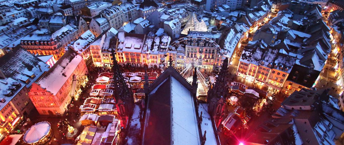 Le marché de Noël de Mulhouse se prépare | M+ Mulhouse