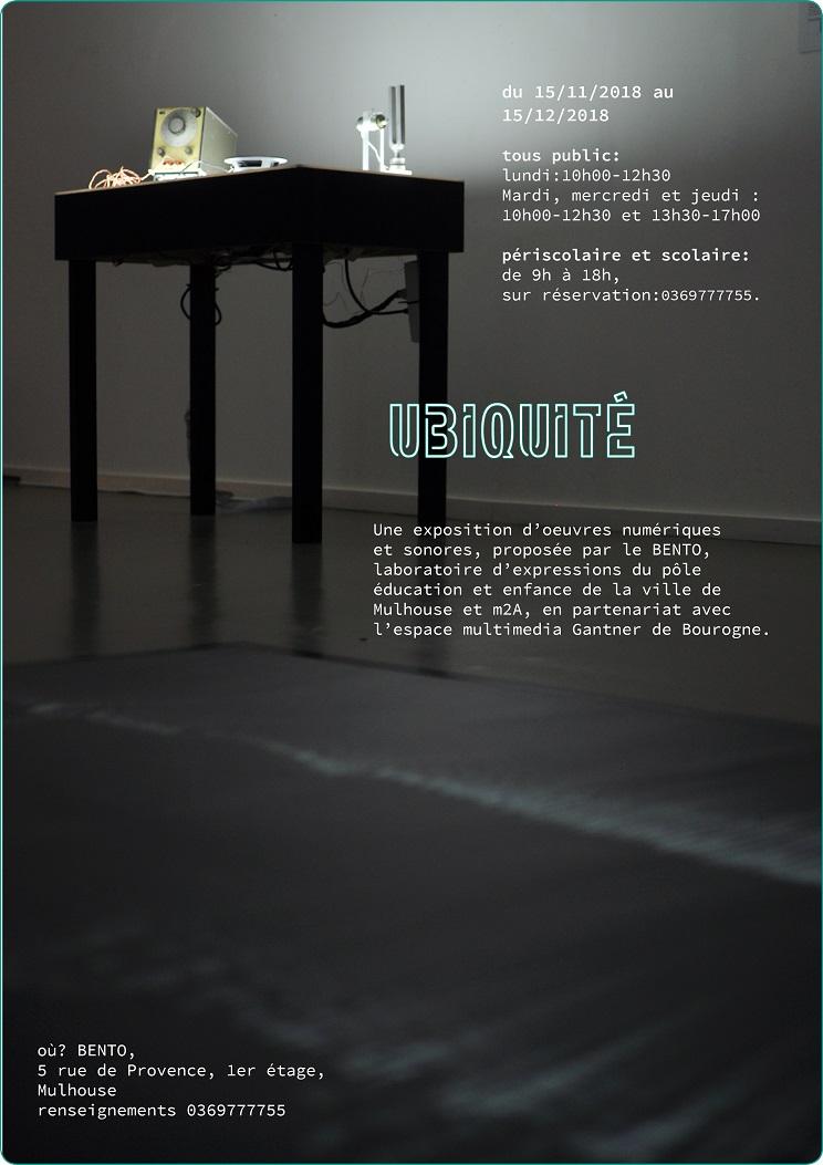 """Exposition numérique et sonore """"Ubiquité"""" au Bento"""