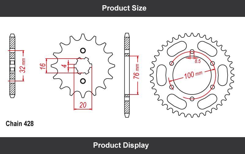 Wholesale Custom Yamaha Yzf R125 Chain And Sprocket Kit