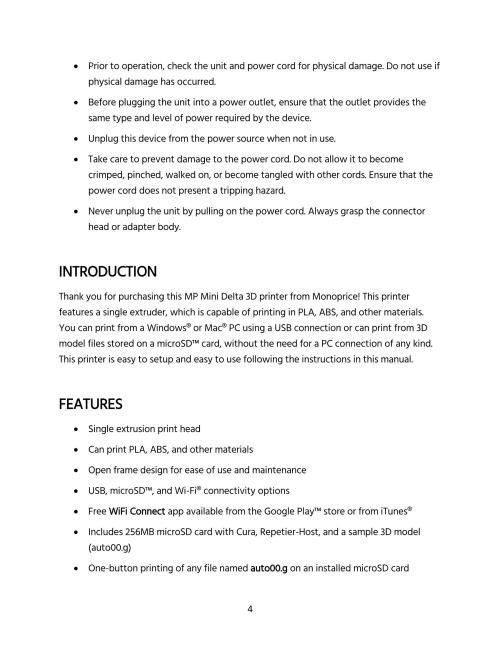 small resolution of mp mini delta user s manual page 4