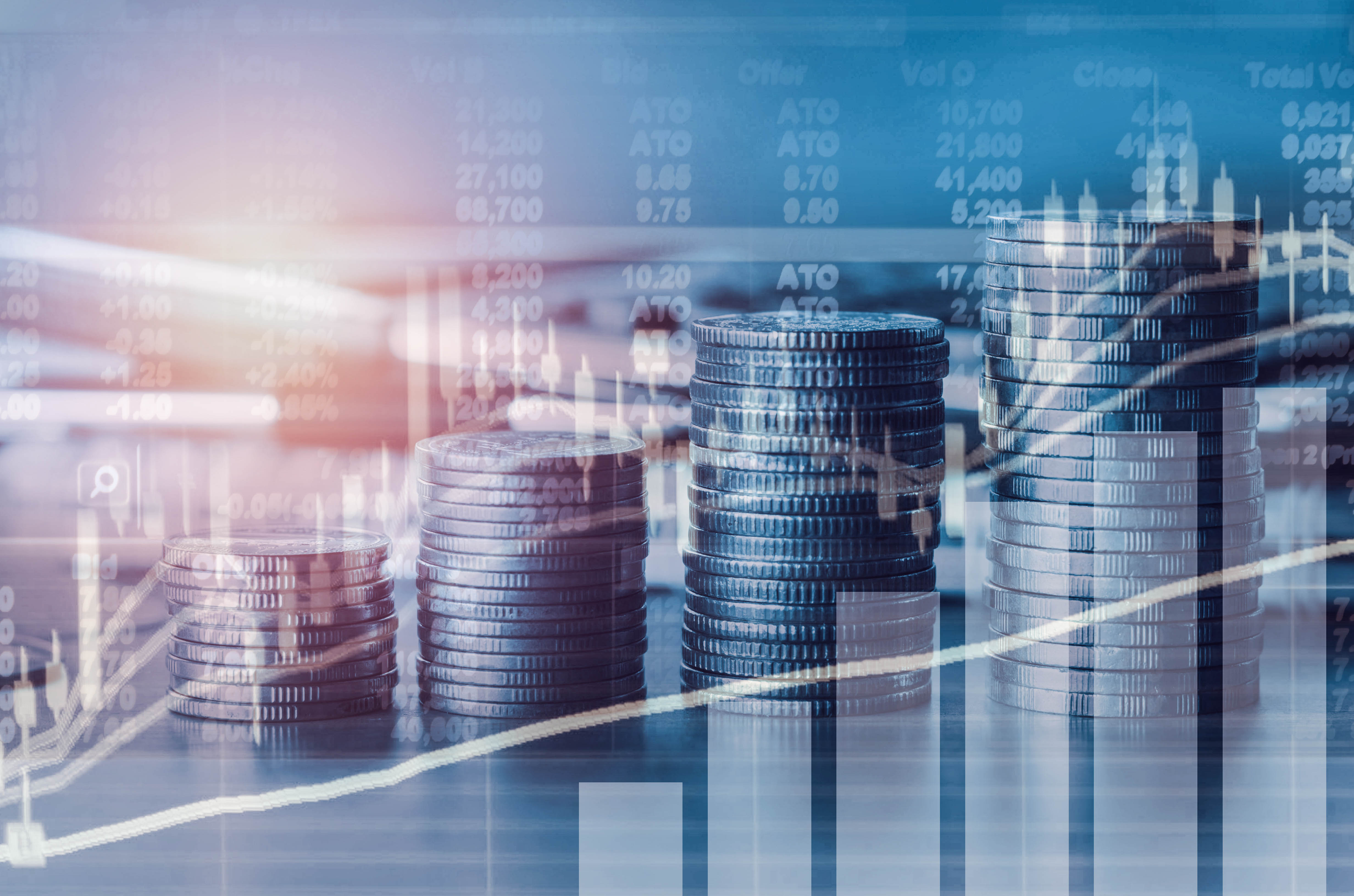 Double exposure financial indices and stock market in