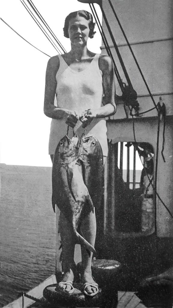 Pauline Baker fishing