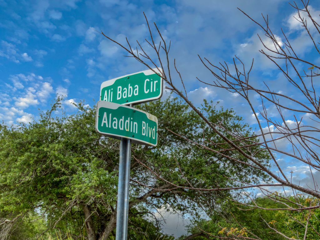 Aladdin City Street Sign