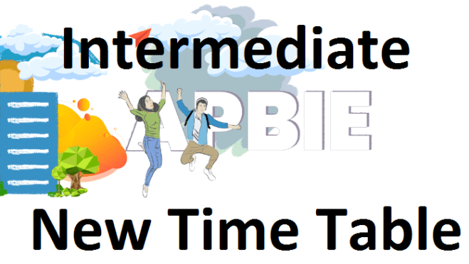 AP inter new time table